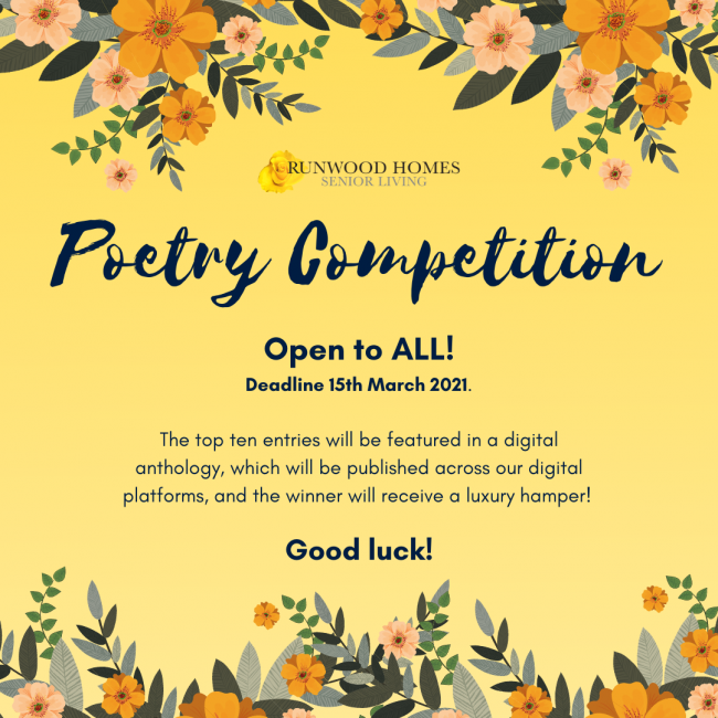 Runwood Homes Poetry Competition 2021